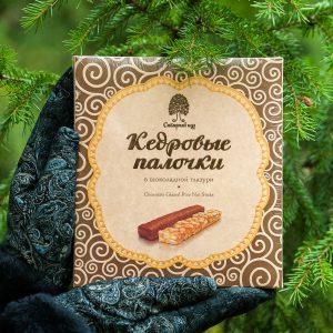 Кедровые палочки в шоколадной глазури 120 гр Сибирский кедр