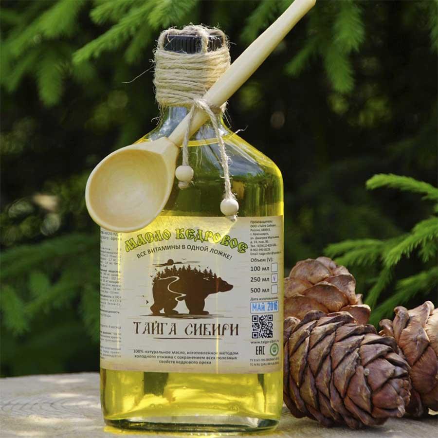 Maslo kedrovoe 250 ml Tayga Sibiri - Кедровое масло: полезные свойства и противопоказания