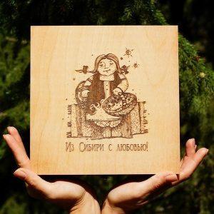 Подарочный кедровый короб
