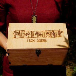 Подарочный кедровый короб «From Siberia»