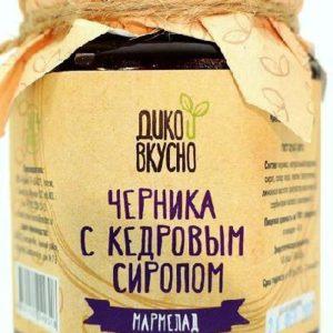 Мармелад «Черника с кедровым сиропом».  «Дико вкусно» 200 мл.