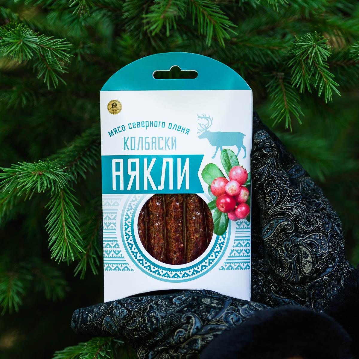 """Колбаскисырокопченые из оленины """"Аякли"""""""