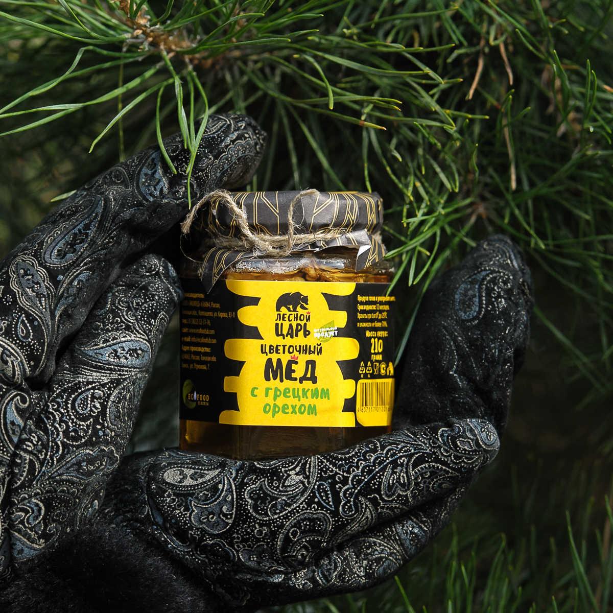 Мёд с грецким орехом 210 гр