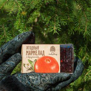 Ягодный мармелад с брусникой 200 гр Сибирский Кедр