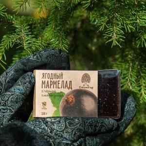 Ягодный мармелад с чёрной смородиной 200 гр Сибирский Кедр