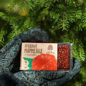 Ягодный мармелад с малиной 200 гр Сибирский Кедр