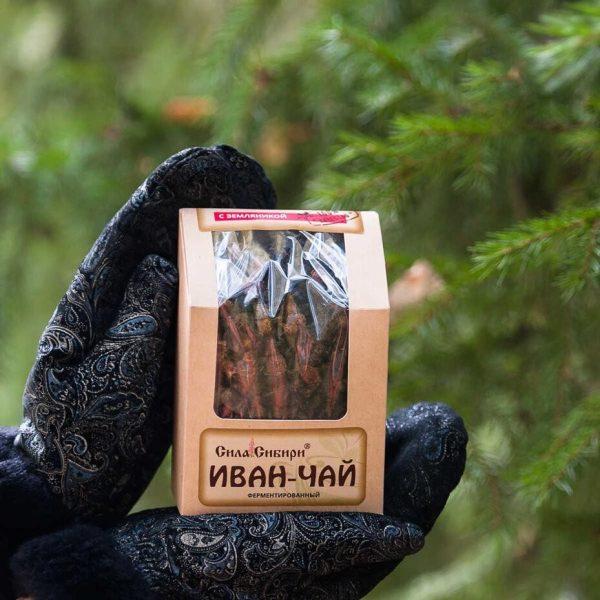 Иван чай ферментированный с земляникой Сила Сибири 100 гр