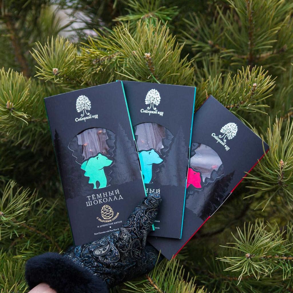 Новинки Тёмный шоколад Сибирский кедр
