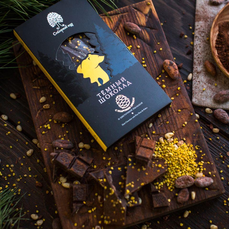 Тёмный шоколад с цветочной пыльцой