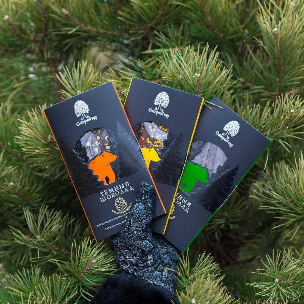 Тёмный шоколад Сибирский кедр
