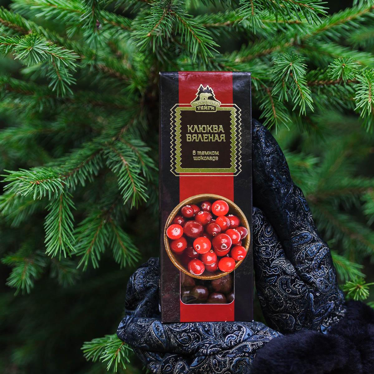 Клюква вяленая в тёмном шоколаде 100 гр